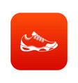 sneakers for tennis icon digital red vector image vector image