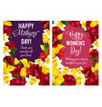 springtime women day flowers cards vector image vector image