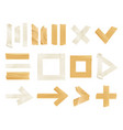 sticky adhesive tape realistic icon set