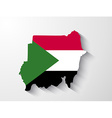sudan map with shadow effect vector image vector image