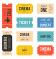 ticket set for cinema vector image vector image
