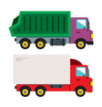 trucks flat style colorful cartoon vector image vector image