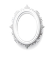 Vintage oval frame vector image vector image