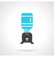 Water cooler jug black and blue icon vector image vector image