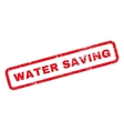 Water Saving Rubber Stamp vector image vector image