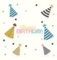 white dotted background with decorative party hat vector image