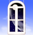 window in the night vector image vector image