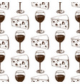 winery making harvest wine glass seamless pattern vector image
