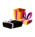 wrapped gift boxes party celebration vector image