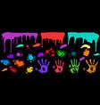 grunge splash paint set vector image