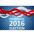 USA Presidential Election 2016 flyer template vector image