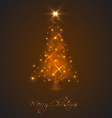 Abstract Christmas tree made of light and sparkles vector image