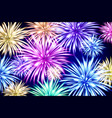 abstract colored firework background with free vector image vector image