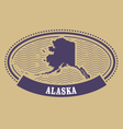Alaska map silhouette - oval stamp vector image vector image