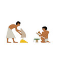 ancient egypt set of group of people vector image