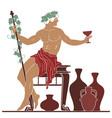 ancient greek god dionysus vector image vector image