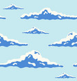 beautiful seamless pattern with curly clouds of vector image vector image
