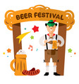 beer festival in germany concept flat vector image