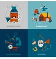 Blacksmith Flat Set vector image vector image
