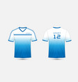blue and white lines layout football sport vector image vector image