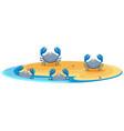 blue crab on island vector image