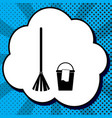 broom and bucket sign black icon in vector image vector image