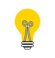 bulb light idea creativity inspiration concept vector image vector image