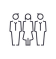 business team businessman businesswoman vector image