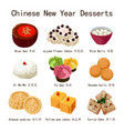 chinese new year desserts vector image vector image
