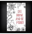 Christmas party invitation Holiday card vector image vector image