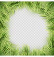 christmas tree fir branch frame eps 10 vector image