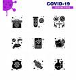 coronavirus prevention 25 icon set blue news vector image vector image
