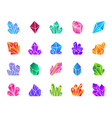 crystal simple gradient icons set vector image
