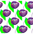 cute cherry seamless pattern good work for vector image