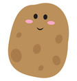 cute potato on white background vector image vector image