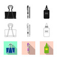 design of office and supply symbol vector image vector image