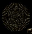 eye test chart visual acuity siemens star gold vector image