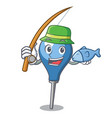 fishing clyster mascot cartoon style vector image
