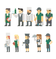 Flat design of restaurant worker set vector image vector image