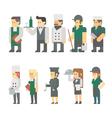 flat design restaurant worker set vector image vector image