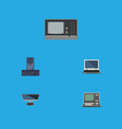 flat icon laptop set of processor vintage vector image vector image