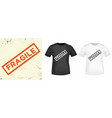 fragile typography for t-shirt stamp tee print vector image vector image