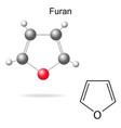 Furan molecule vector image vector image