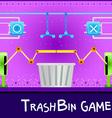 game board trashbin vector image
