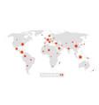 global pandemic world map virus epidemic vector image