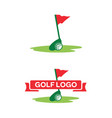 golf-logo vector image