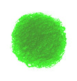 green crayon scribble texture stain isolated on vector image