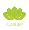 Green lotus icon vector image vector image