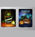 halloween party invitation on wooden wall vector image