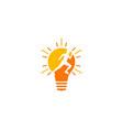 idea run logo icon design vector image vector image